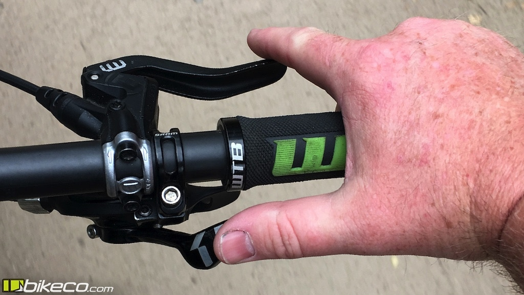 Thumb shifters allow you to hold the brakes while changing gears, similar to twist shifters